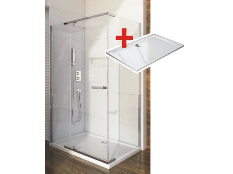 HANNAH ROCKY 100 x 80 cm Well Luxusná obdĺžniková sprchová zástena