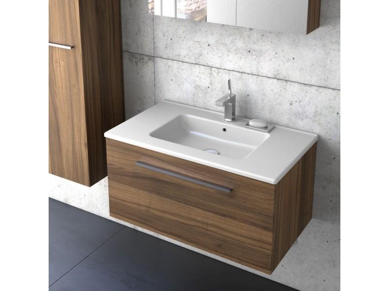 F-EXCLUSIVE-U80 Olsen-spa Skrinka s umývadlom 80 cm, závesná, orech dijon