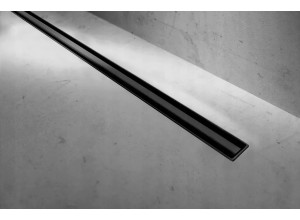 S-900 BLACK Well Sprchovací odtokový podlahový žľab