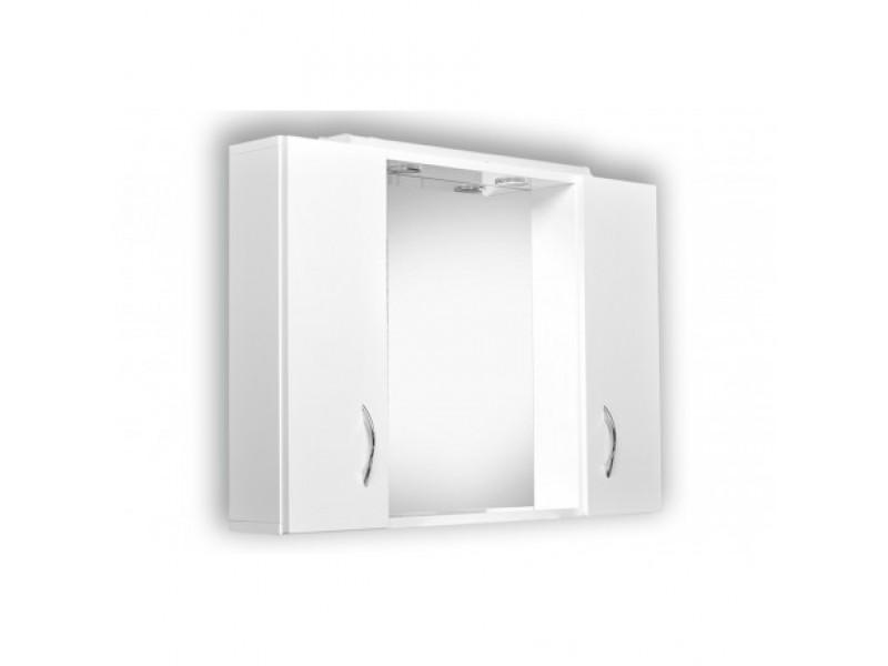 HELIOS 85 Olsen-Spa Zrkadlo s osvetlením + 2 skrinky