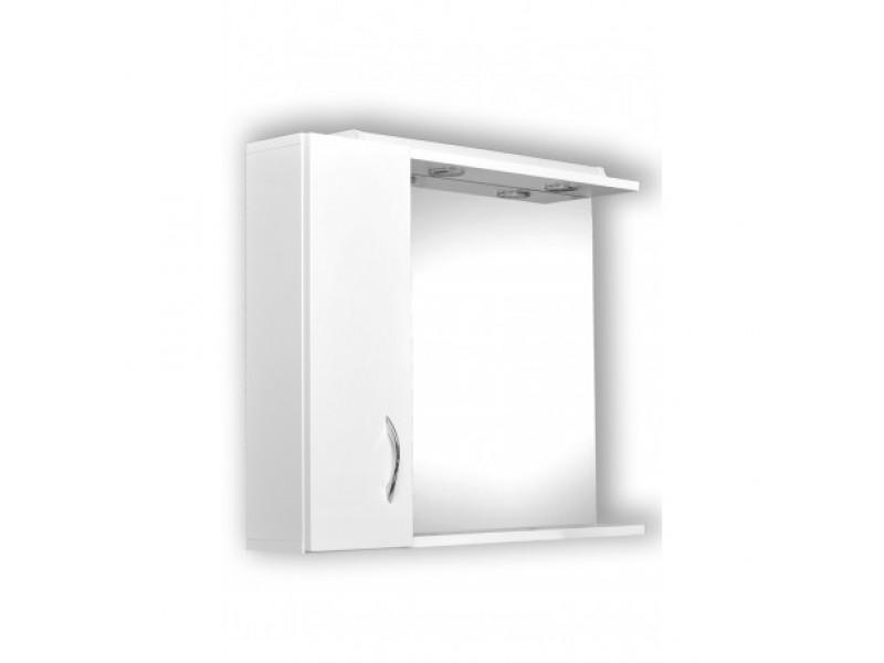 HELIOS 65 Olsen-Spa Zrkadlo s osvetlením + skrinka, pravé prevedenie