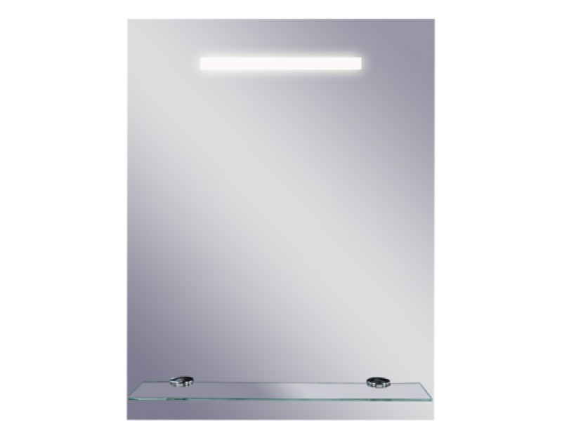 LINEA ll Olsen-Spa Zrkadlo s osvetlením a poličkou 50x65 cm